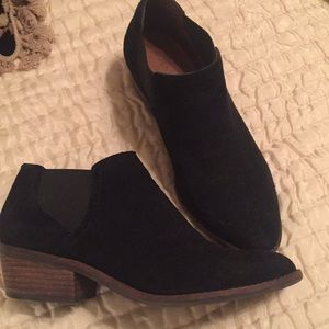Black Suede Lucky Brand Booties